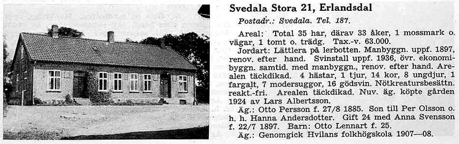 Erlandsdal i Gods och gårdar 1944